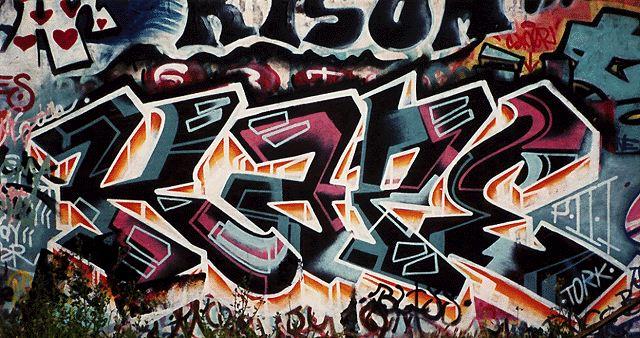 art graffiti black antracite white and rose tork