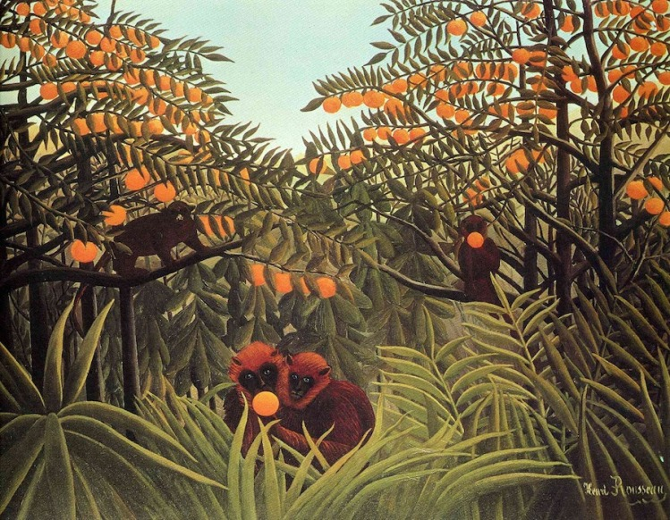 art-Henri Rousseau-Apes In The Orange Grove