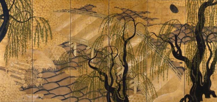 art-screen-japanese-19th-