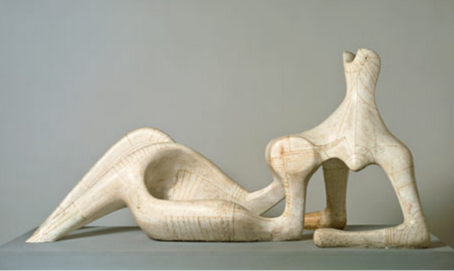 Henry Moore reclining Woman in Pain