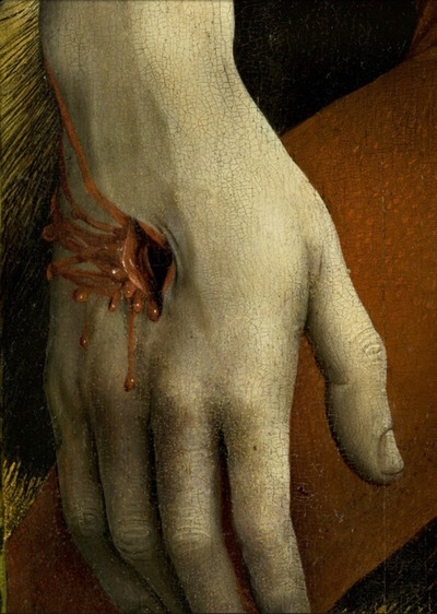 Rogier Van der Weyden detail from the descent from the cross